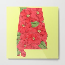 Alabama in Flowers Metal Print