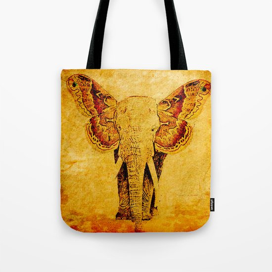 The elephant who wanted to be a butterfly Tote Bag