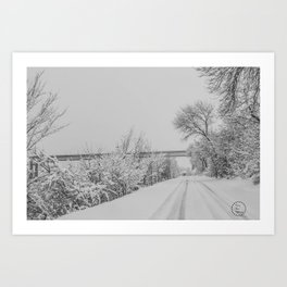 Winter, Missouri River, North Dakota Art Print