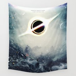 Interstellar Inspired Fictional Sci-Fi Teaser Movie Poster Wall Tapestry