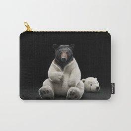 Black bear wearing polar bear costume Carry-All Pouch