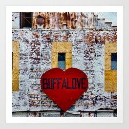 Buffalo Urban statement Art Print