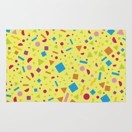 Geometric Multicolor Background X Rug