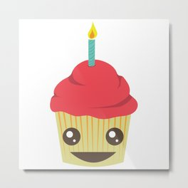 Party Cupcake Metal Print