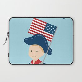 US flag held high for those who died - Patriot Day - September 11 Laptop Sleeve
