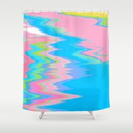 Neon Spill Abstract Shower Curtain