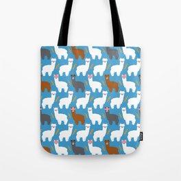 Pink Hair Alpacas I Tote Bag