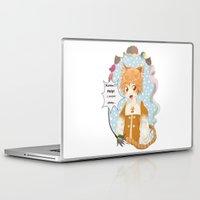 katamari Laptop & iPad Skins featuring Kawaii Neko chibi by Kami-katamari