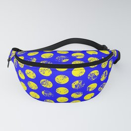 Distressed Blue Spots Fanny Pack