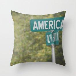 America sign Throw Pillow