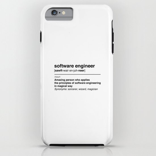 Software Engineer definition iPhone Case by keeponcoding ...