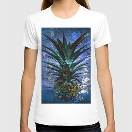 Silver Leaf Tropical Pineapple #buyart T-shirt