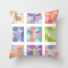 color schemes poster (without labels) Throw Pillow