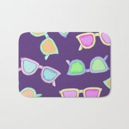 Sunglasses purple Bath Mat