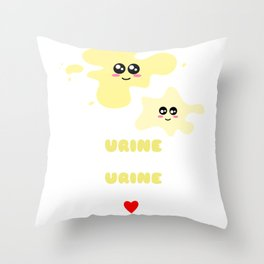 Urine My Heart Urine My Soul Funny Urine Pun Throw Pillow