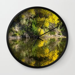 Yellow Trees on the Sauce Grande River Wall Clock