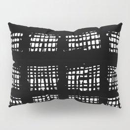 CAYCEE BLACK BLACK AND WHITE PLAID Pillow Sham
