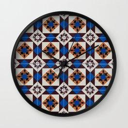 Portuguese tile pattern Wall Clock