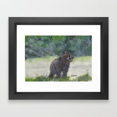 Looking for a cave Framed Art Print