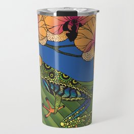 Tree Frog with Orchids Travel Mug