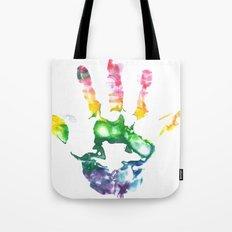 Rainbow Handprint Tote Bag