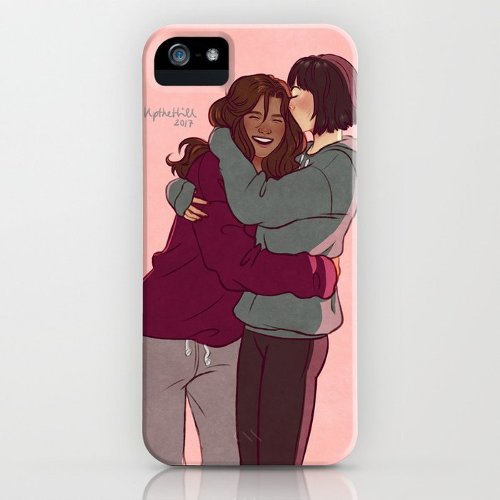 Girlfriends in hoodies iPhone Case