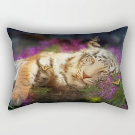 Tiger and Butterfly Rectangular Pillow