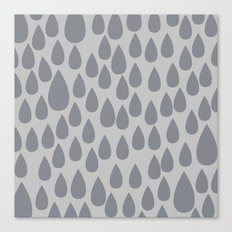 Grey drops Canvas Print