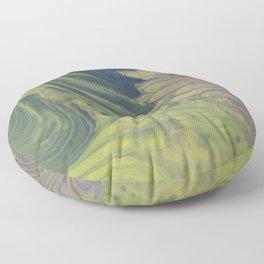 Psychedellic Acid Trip Swirl  | Acrylic Pour Art Floor Pillow
