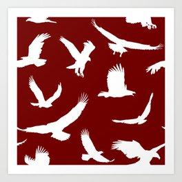 Eagles // Maroon Art Print