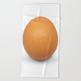 Chicken Egg , the brown eggs Artistic inspiration Beach Towel