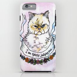 Judging You - a cat's life iPhone Case