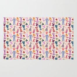Dress Papercut Pattern - baby Yellow Rug