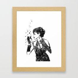 Jazz singer, jazz musician Framed Art Print