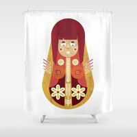 doll Shower Curtains featuring Doll by Roxie Emm