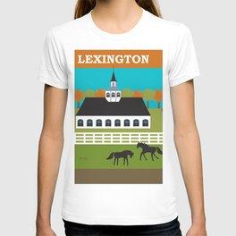Lexington, Kentucky - Skyline Illustration by Loose Petals T-shirt