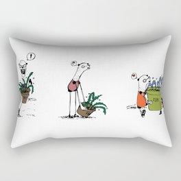 Bear and Weasel: The Love Fern Rectangular Pillow