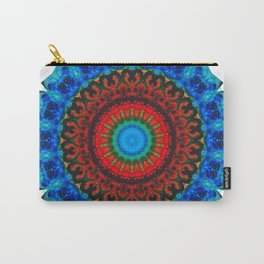 Inner Peace - Kaliedescope Mandala By Sharon Cummings Carry-All Pouch
