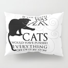 Cats on the Flat Earth Pillow Sham