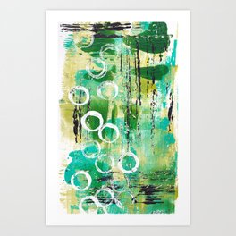 Abstract in Greens Art Print