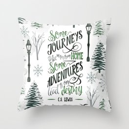 SOME JOURNEYS Throw Pillow