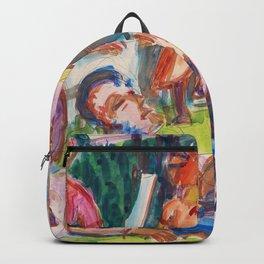 Picknick - Ernst Ludwig Kirchner Backpack