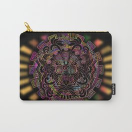 Aztec Sun Psychedelic Mask Carry-All Pouch