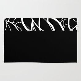 Black Zebra Rug