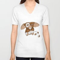gizmo V-neck T-shirts featuring Gizmo by Melissa Sanchez Art