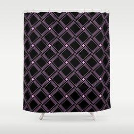 Black and Pink Squares Minimal Design Shower Curtain