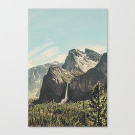 Yosemite Valley Waterfall Canvas Print