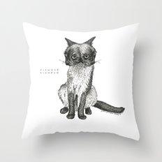 Siamese Siamese Throw Pillow