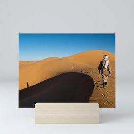 Walking in the desert   Morocco travel photography Mini Art Print
