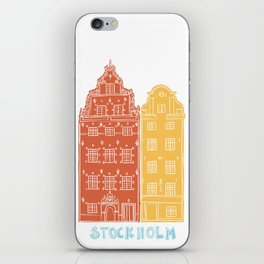 Stockholm old town - Gamla Stan facades iPhone Skin